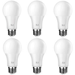 6pcs A19 Dimmable LED Bulb, 8.5W  Light Bulbs, 800lm, 5000K