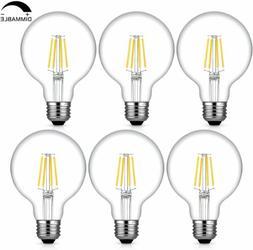 6Pcs Edison G25 Led Bulb Globe Light Dimmable 40W Equivalent
