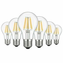 6x E26 LED Bulb Dimmable A60/A19 4W 6W 8W Lamp Filament COB