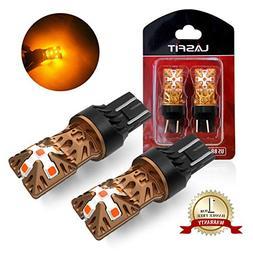 LASFIT 7443 7440 992 T20 LED Bulbs Polarity Free, Super Brig