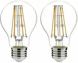 AmazonBasics 75 Watt Equivalent, Clear, Non-Dimmable, A19 LE
