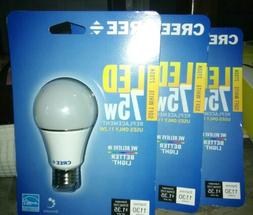 Cree 75W Soft White LED 2700K A19 Dimmable Exceptional Quali