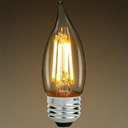 Bulbrite 776675 Dimmable Chandelier LED Filament Bulb Medium