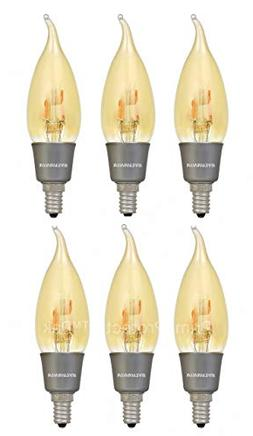 6 Pack Sylvania 79542 Vintage LED Light Bulb 40 Watt Equival