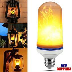 7W E26/E27 LED Flicker Flame Light Bulb Simulated Burning Fi