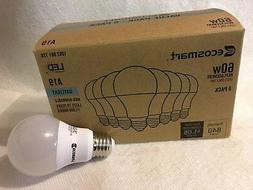 8-Pack EcoSmart 9w LED Bulb 60W Equivalent Day Light A19 Non