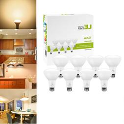 8 Pack BR30 LED Bulb 10.5W 2700K Warm White Indoor Flood Lig