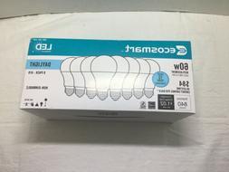 8 Pack Ecosmart 60w A19   Led 840 Lumens light bulb  Uses 8.