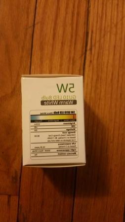 8 pcs Warmoon GU10 Daylight White LED Bulbs 5W 6500K, Non-Di