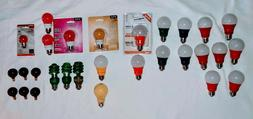 Sunlite 80148-SU Red LED Light Bulb, Medium Base - A19/3W/R/