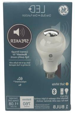 GE Lighting 93100352 LED+ Speaker A21 Bulb, 1-Pack, Soft Whi