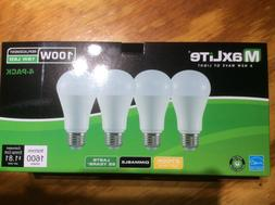 4 Pack 15w Maxlite LED 100 Watt Equivalent A type Light Bulb