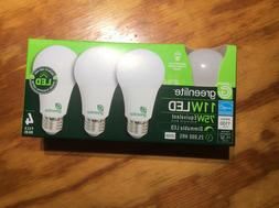 New 75 Watt Equivalent  A19 4 pack  LED Light Bulb 3000K dim