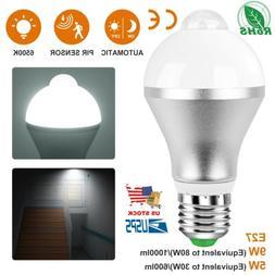Motion Sensor Light Bulb Motion Activated LED Dusk to Dawn 9