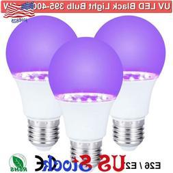 9W UV LED Black Lights Bulb Blacklight Party Body Paint Fluo
