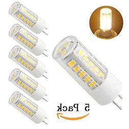 Bqhy, 5-pack G8 LED Bulb 120V - T4 G8 Base Bi-pin Xenon JCD