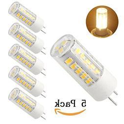 Bqhy, 5-pack G8 LED Bulb 120V - T4 G8 Base Bi-pin Xenon JCD