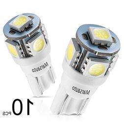 Marsauto 194 LED Light Bulb 6000K 168 T10 2825 5SMD LED Repl