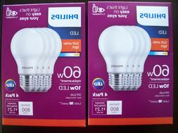 Philips - 800-lumen, 8.5w A19 Led Light Bulb, 60w Equivalent