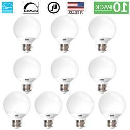 Sunco Lighting 10pk 6W G25 LED Globe Bulb Daylight 5000K Med