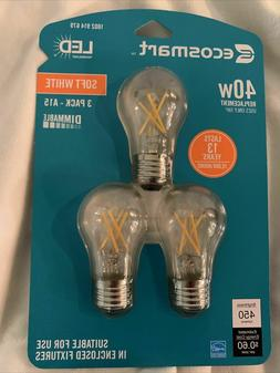 EcoSmart A15 Appliance Dimmable Energy Star Filament Vintage