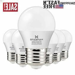 Hansang A15 LED Bulb Light 6 Watt ,E26 Standard Base