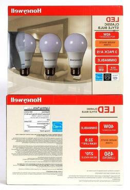 Honeywell A19 6W LED Bulb Set