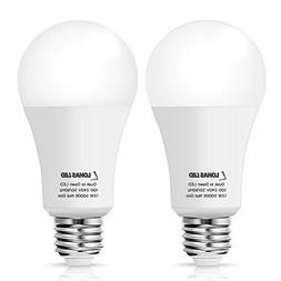 LOHAS A19 LED Dusk to Dawn Light Sensor Bulb E26, 12W, Dayli