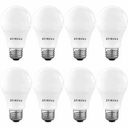Luxrite A19 LED Light Bulb 60W Equivalent, 3000K Warm White