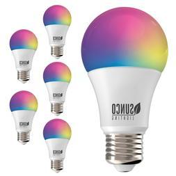 Sunco Lighting A19 LED Smart Bulb Alexa / Google Wifi Compat