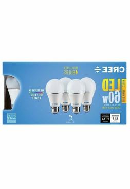 CREE 8-Pack LED A19 Light Bulbs 9.5W=60W Dimmable Soft White