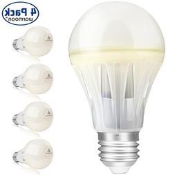 Warmoon A19 LED Light Bulbs,10W MCOB 1100LM 360 Beam Angle 6