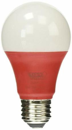 Feit Electric A19/R/10KLED Non-Dimmable Red Light LED Bulb,