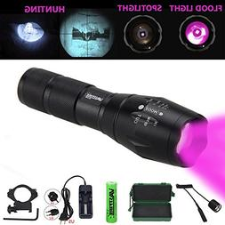 VASTFIRE Focusable Infrared Flashlight IR Light Thermal Hog