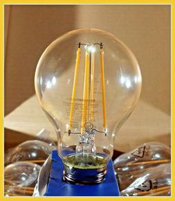 Amazon Basics  A19 LED, 9 Watt , Clear, Dimmable, Light Bulb