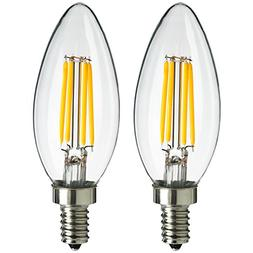 Sunlite Antique Filament LED 4 Watt 2700K E12 Base Chandelie