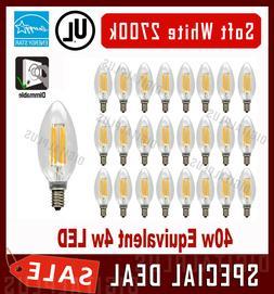 B10 LED Light Bulbs 40W Equivalent Soft White C12 E12 Base C