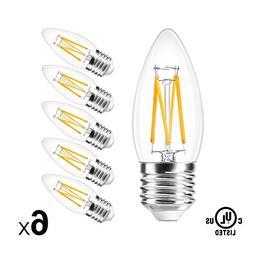 B11 LED Filament Bulb E26 Candelabra Medium Base 2700K Warm