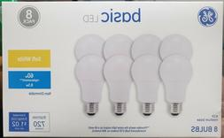 GE Basic 8-Pack 60 W Equivalent Warm White 2700k A19 LED Lig