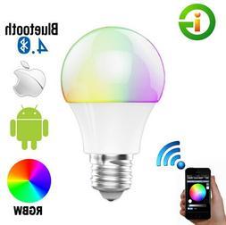 Best to Buy Bluetooth Smart 6W/7.5W E26 LED Light Bulb Speak
