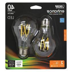 FEIT ELECTRIC BPA1940CL927CAFIL2RP LED Bulb,450 lm,5W,120VAC