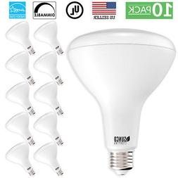 Sunco Lighting 10 Pack BR40 LED Bulb, 17W=100W, Dimmable, 27