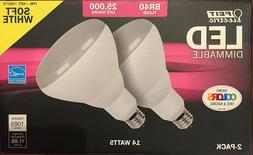 Feit BR40 Flood Dimmable LED Light Bulb 2-Pack
