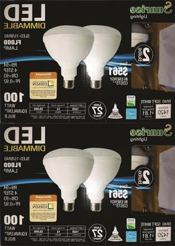 BR40 LED Bulb 4 Pack 2700K Warm White Indoor/Outdoor Flood L