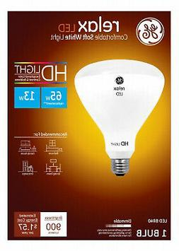 BR40 R40 Dimmable LED Light Bulb, GE Relax 13W HD, Soft Whit