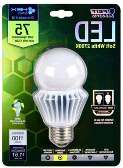 Brand New Feit Hex Series 75W Replacement LED A19 Bulb 2700K