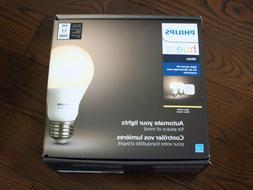 Brand New Philips Hue A19 White Starter Kit w/ Bridge and 2