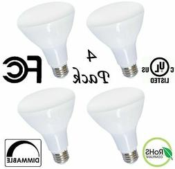 4 Pack Brightest BR40 LED Bulbs by Bioluz LED – INSTANT ON
