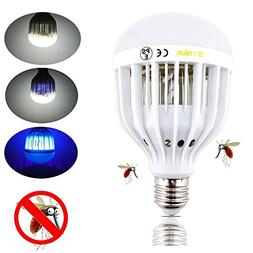 Bonlux LED Bug Zapper Light Bulb Medium Screw E26 Base 120V