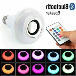 led wireless bluetooth bulb light speaker e27